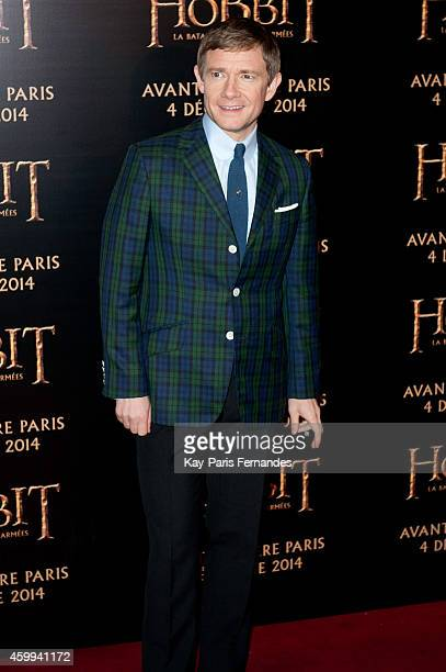 Martin Freeman attends 'The Hobbit' Paris Premiere at Le Grand Rex on December 4, 2014 in Paris, France.