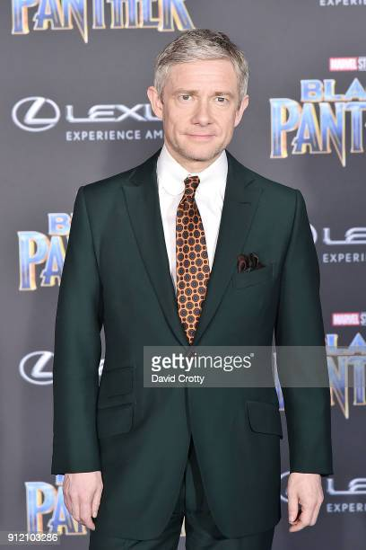 Martin Freeman attends the Premiere Of Disney And Marvel's Black Panther Arrivals on January 29 2018 in Hollywood California
