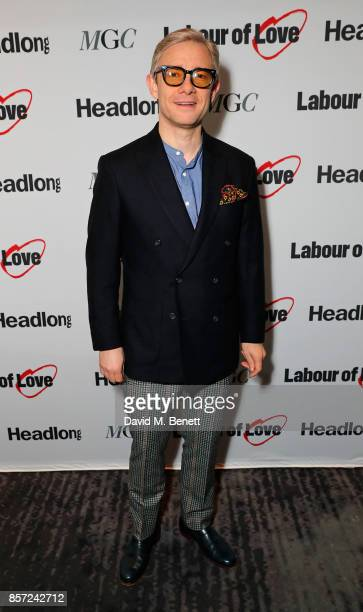 Martin Freeman attends the press night after party for Labour Of Love at The National Cafe on October 3 2017 in London England