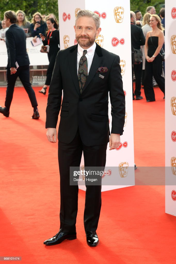 Martin Freeman attends the Virgin TV British Academy Television Awards at The Royal Festival Hall on May 13, 2018 in London, England.