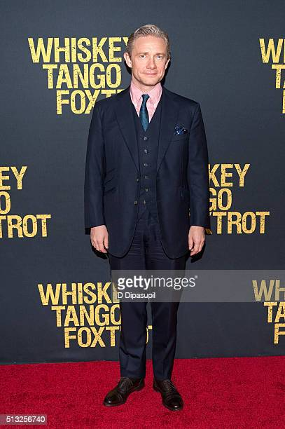Martin Freeman attends the 'Whiskey Tango Foxtrot' world premiere at AMC Loews Lincoln Square 13 theater on March 1 2016 in New York City