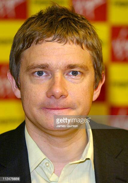 Martin Freeman during The Hitchhiker's Guide To The Galaxy DVD signing at Virgin Megastore in London Great Britain