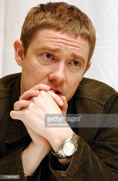 Martin Freeman during The Hitchhiker's Guide to the Galaxy Press Conference with Garth Jennings Sam Rockwell Martin Freeman and Zoey Deschanel at The...
