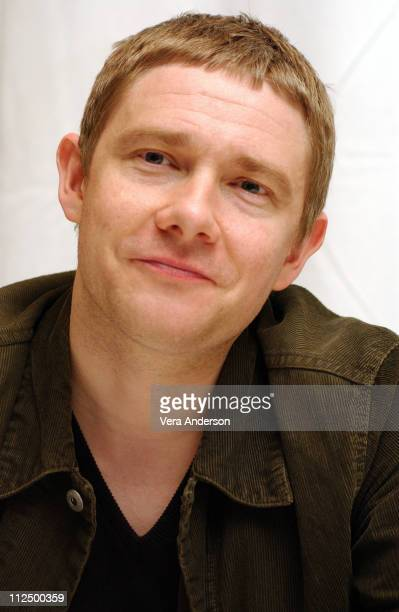 Martin Freeman during 'The Hitchhiker's Guide to the Galaxy ' Press Conference with Garth Jennings Sam Rockwell Martin Freeman and Zoey Deschanel at...