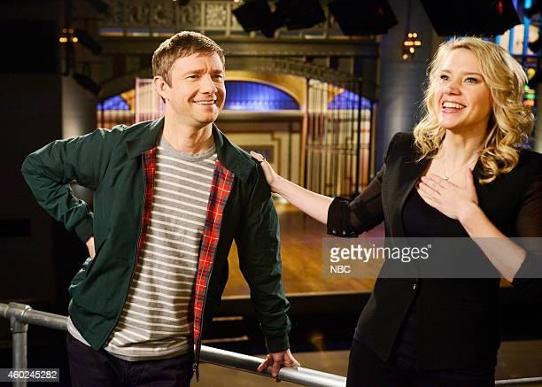 LIVE 'Martin Freeman' Episode 1671 Pictured Martin Freeman and Kate McKinnon on December 9 2014