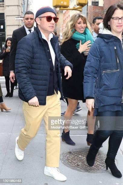 Martin Freeman is seen on February 20, 2020 in New York City.