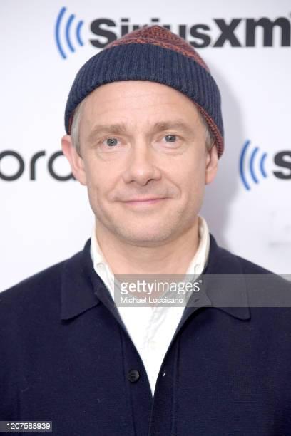 Martin Freeman visits SiriusXM Studios on February 20, 2020 in New York City.