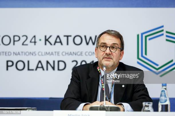 Martin Frick Director of the Climate Energy and Tenure Division UNFCCC during press conference during the UN Climate Conference COP24 in Katowice...