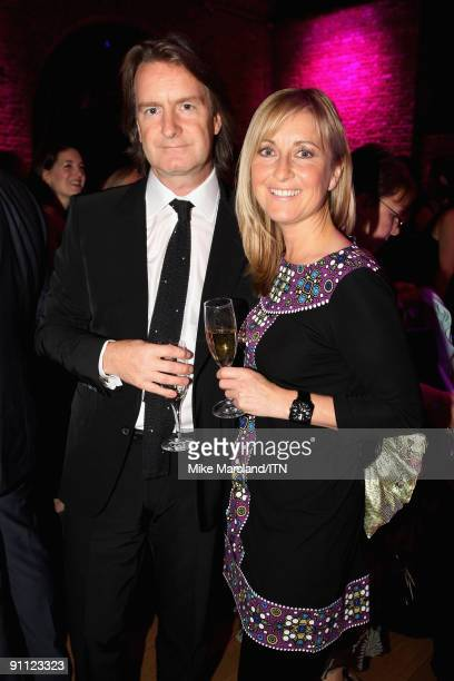 LONDON ENGLAND SEPTEMBER 24 Martin Frizzell and Fiona Phillips pose ahead of the 'Newsroom�s Got Talent' event held in aid of Leonard Cheshire...