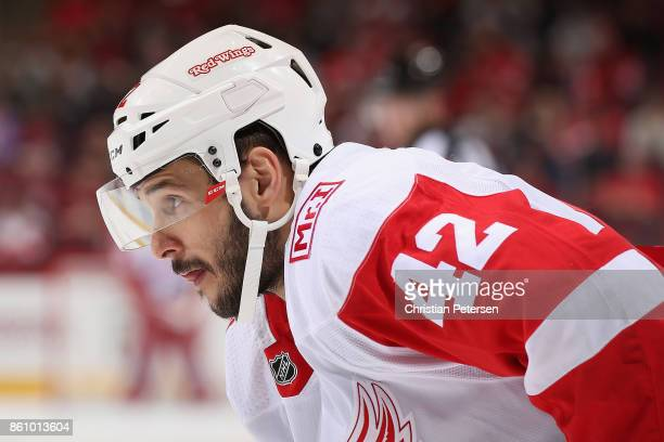 Martin Frk of the Detroit Red Wings during the NHL game against the Arizona Coyotes at Gila River Arena on October 12 2017 in Glendale Arizona The...