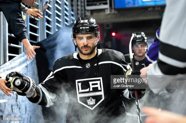 Martin Frk of the Los Angeles Kings high fives fans prior to the second period against the Philadelphia Flyers at STAPLES Center on December 31 2019...