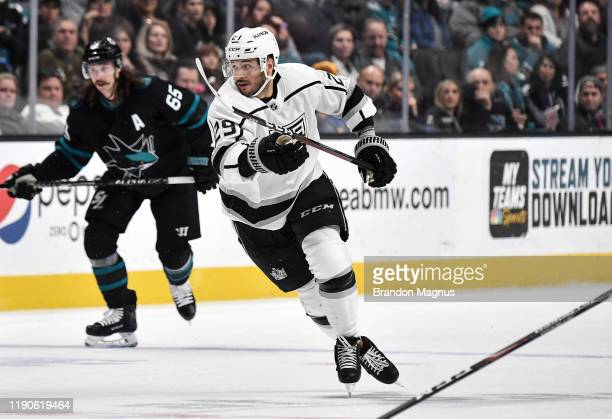 Martin Frk of the Los Angeles Kings skates after the puck against the San Jose Sharks at SAP Center on December 27 2019 in San Jose California