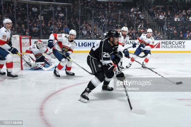 Martin Frk of the Los Angeles Kings skates with the puck during the first period against the Florida Panthers at STAPLES Center on February 20 2020...