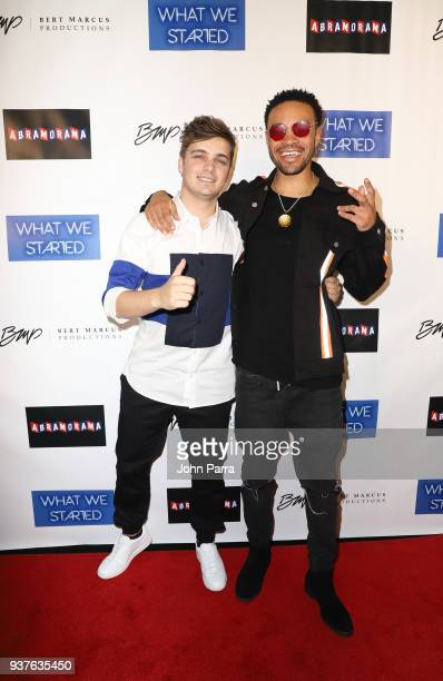 Martin Garrix and Maejor arrive at 'What We Started' Miami Premiere on March 22 2018 in Miami Florida