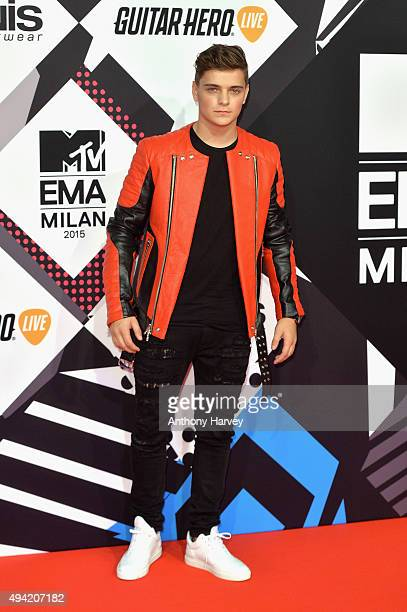 Martin Garrix attends the MTV EMA's 2015 at the Mediolanum Forum on October 25 2015 in Milan Italy