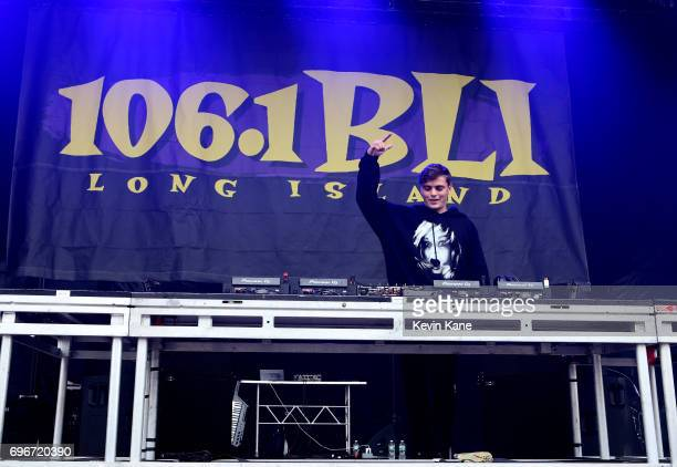 Martin Garrix performs on stage during the 2017 BLI Summer Jam at Nikon at Jones Beach Theater on June 16 2017 in Wantagh New York