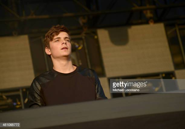 Martin Garrix performs onstage during day 4 of the Firefly Music Festival on June 22 2014 in Dover Delaware
