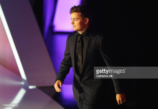 Martin Garrix walks onto the stage during the UEFA Euro 2020 Final Draw Ceremony at the Romexpo on November 30, 2019 in Bucharest, Romania.