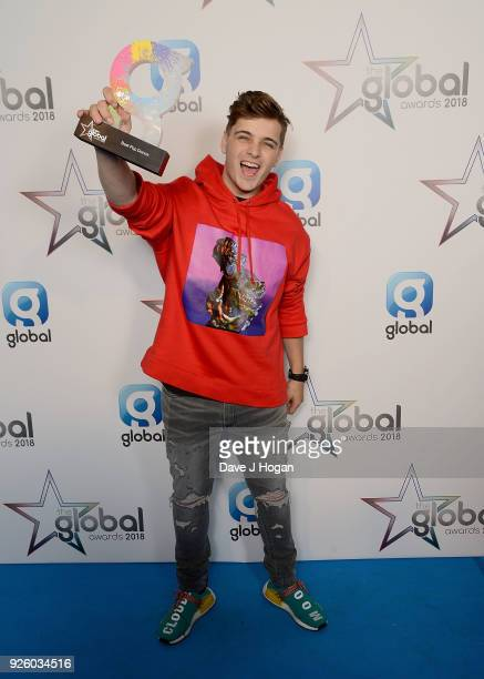 Martin Garrix wins at The Global Awards 2018 at Eventim Apollo Hammersmith on March 1 2018 in London England