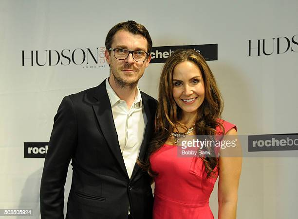 Martin Gleize International Director Roche Bobois and Amber Milt fashion editor attend the Grand Opening Celebration at Roche Bobois on February 4...