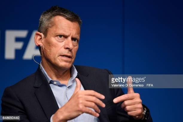 Martin Glenn The FA's Chief Executive Officer speaks during the FIFA Annual Conference for Equality Inclusion at the Home of FIFA on 06 March 2017 in...