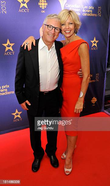 Martin Goldberg and tv personality Heather Hiscox attends the Rising Stars 2012 Academy Of Canadian Cinema Television Party during 2012 Toronto...