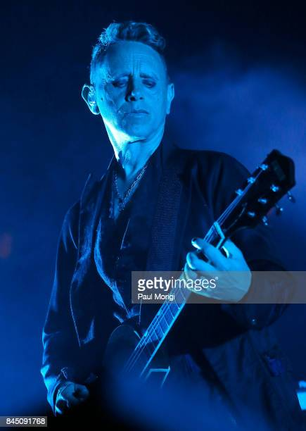 Martin Gore of Depeche Mode performs during the Global Spirit Tour at Madison Square Garden on September 9 2017 in New York City