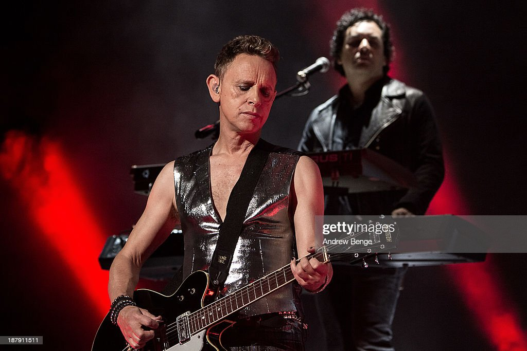 Martin Gore of Depeche Mode performs on stage at First Direct Arena on November 13, 2013 in Leeds, United Kingdom.