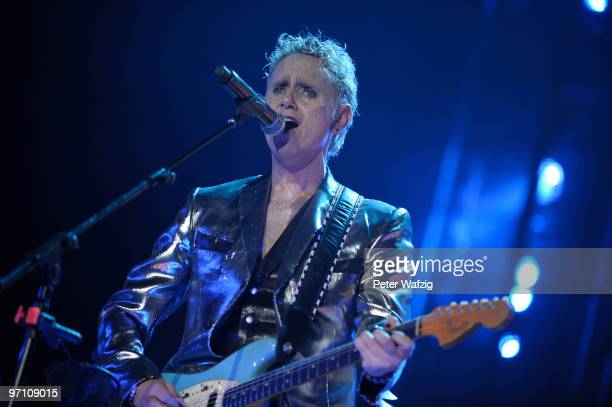 Martin Gore of Depeche Mode performs on stage at the EspritArena on February 26 2010 in Duesseldorf Germany