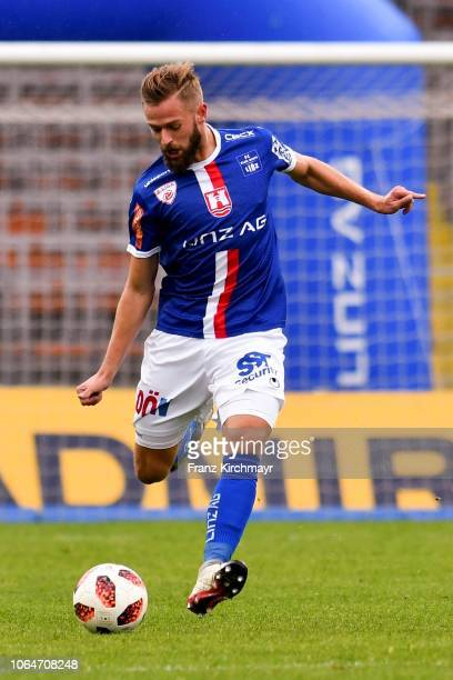 Martin Grasegger of FC Linz during the 2 Liga match between FC Blau Weiss Linz v SV Lafnitz at Stadion der Stadt Linz on November 24 2018 in Linz...