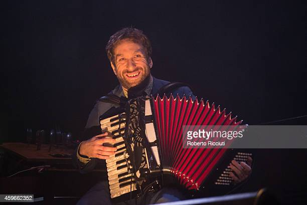 Martin Green of Lau performs on stage at Queens Hall on November 27 2014 in Edinburgh United Kingdom