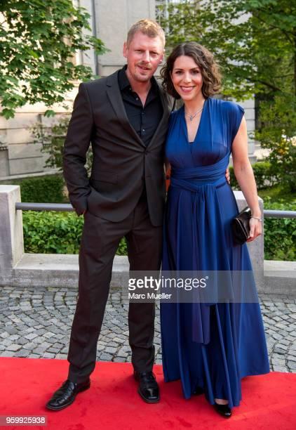 Martin Gruber and EvaMaria Reichert seen during the Bayerischer Fernsehpreis show at Prinzregententheater on May 18 2018 in Munich Germany