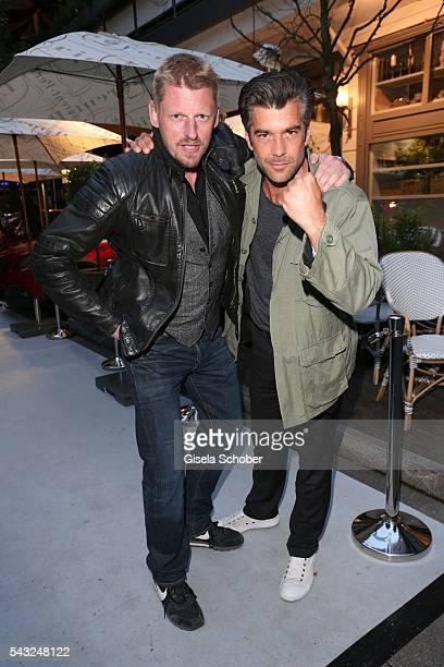 Martin Gruber and Xaver Hutter during the Peugeot BVC Casting Night during the Munich Film Festival 2016 at Kaeferschaenke on June 26 2016 in Munich...
