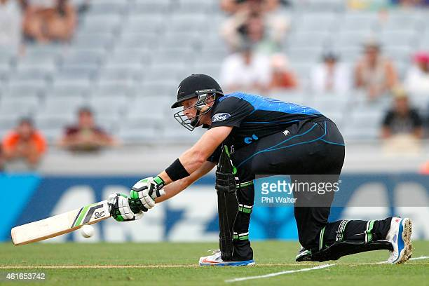 Martin Guptill of New Zealand bats during the One Day International match between New Zealand and Sri Lanka at Eden Park on January 17 2015 in...