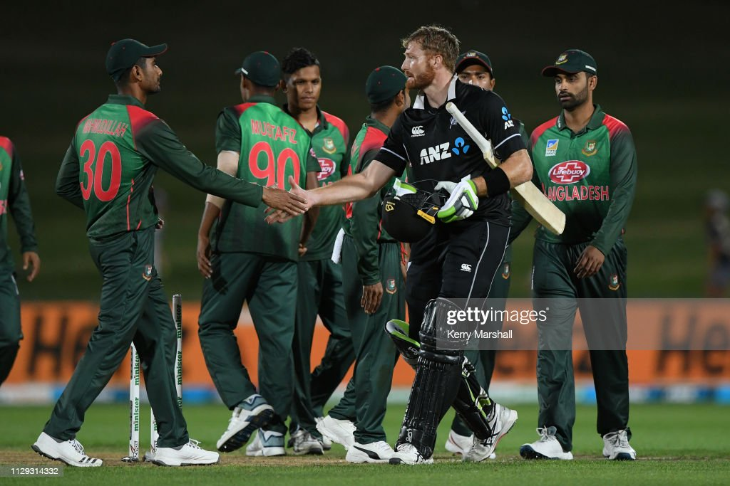 New Zealand v Bangladesh - ODI Game 1 : News Photo
