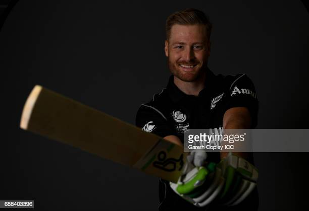 Martin Guptill of New Zealand poses for a portrait at the team hotel on May 25 2017 in London England
