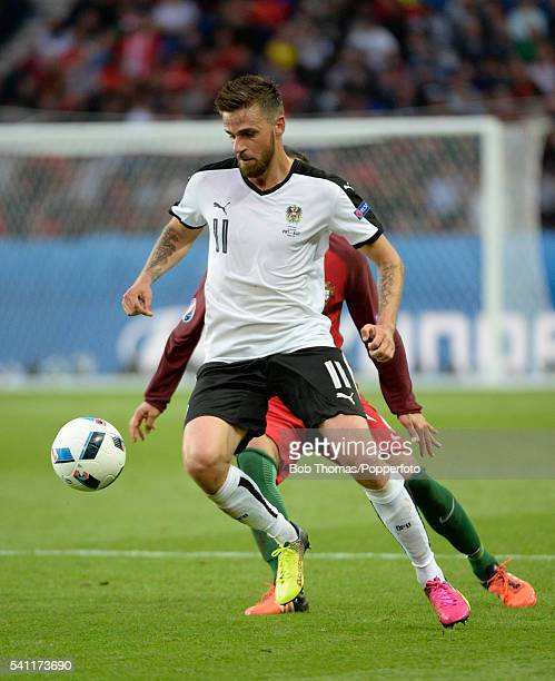 Martin Harnik in action for Austria during the UEFA EURO 2016 Group F match between Portugal and Austria at Parc des Princes on June 18, 2016 in...