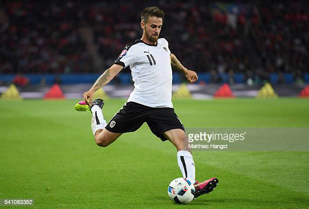 Martin Harnik of Austria in action during the UEFA EURO 2016 Group F match between Portugal and Austria at Parc des Princes on June 18, 2016 in...