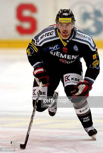 Martin Havlat skates on the ice during the game between Slavia Praha and Sparta Praha on February 1, 2005 in Prague, Czech Republic.