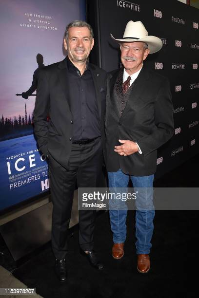 Martin Hermann and Don Schreiber attend the Los Angeles premiere of Ice on Fire from HBO on June 05 2019 in Los Angeles California
