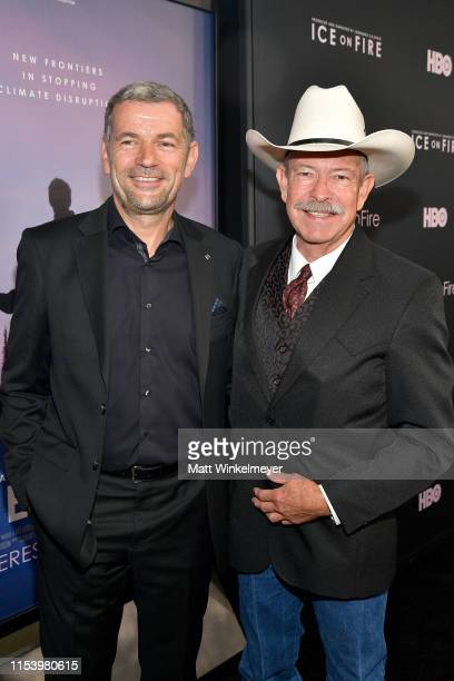 Martin Hermann and Don Schreiber attend the LA Premiere of HBO's 'Ice On Fire' at LACMA on June 05 2019 in Los Angeles California