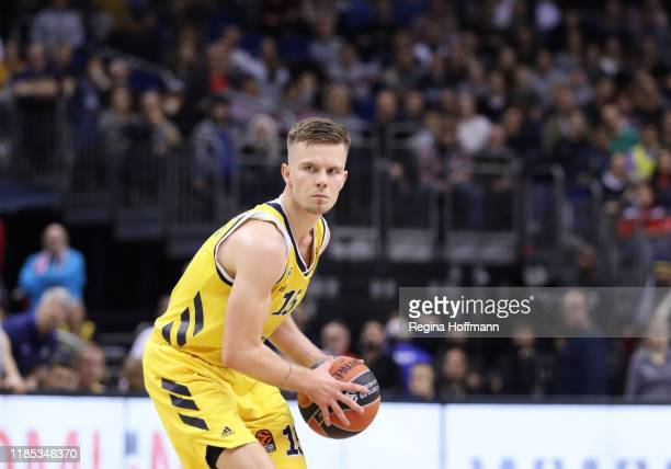 Martin Hermannsson, #15 of Alba Berlin in action during the 2019/2020 Turkish Airlines EuroLeague Regular Season Round 11 match between Alba Berlin...