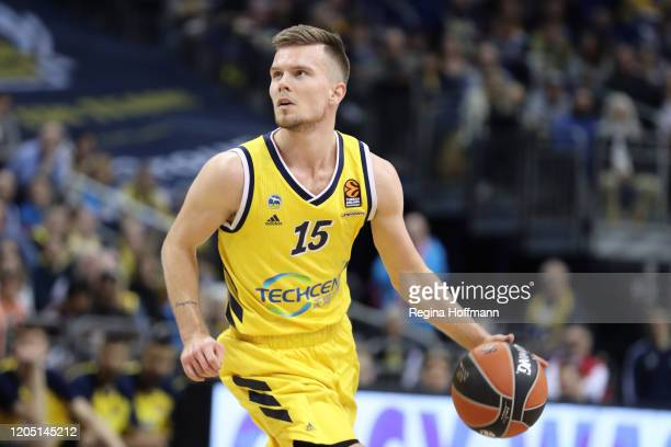 Martin Hermannsson, #15 of Alba Berlin in action during the 2019/2020 Turkish Airlines EuroLeague Regular Season Round 27 match between Alba Berlin...