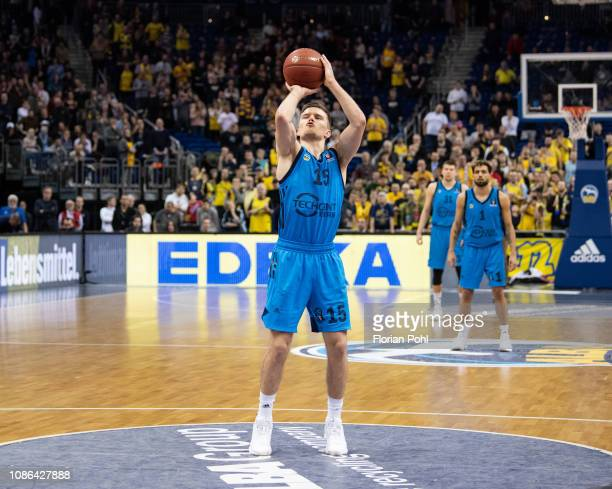Martin Hermannsson of Alba Berlin during the EuroCup match between Alba Berlin and BC Rytas at MercedesBenz Arena on January 22 2019 in Berlin Germany