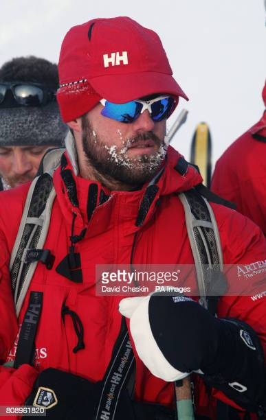 Martin Hewitt one of the Walking with the Wounded team training on an island situated between the Norweign mainland and the North Pole for their last...
