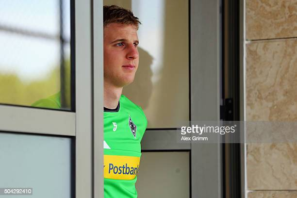 Martin Hinteregger arrives for a Borussia Moenchengladbach traning session on day 5 of the Bundesliga Belek training camps at Maxx Royal Golf Resort...
