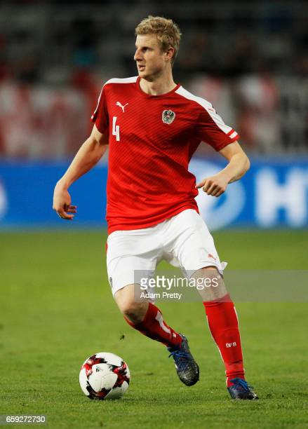 Martin Hinteregger of Austria in action during the Austria v Finland International Friendly match at Tivoli Stadium on March 28 2017 in Innsbruck...