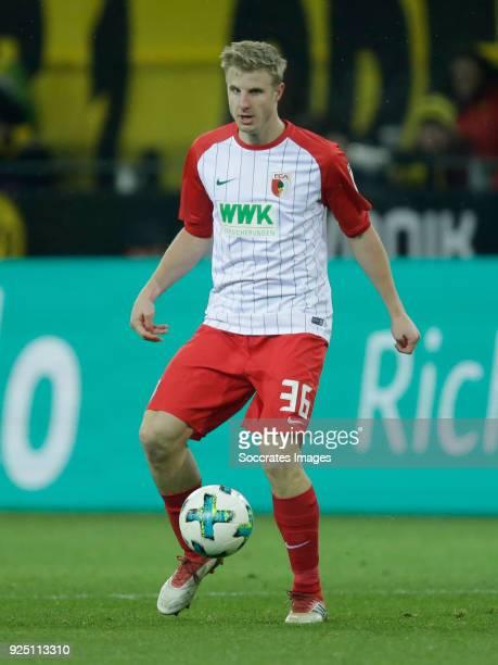 Martin Hinteregger of FC Augsburg during the German Bundesliga match between Borussia Dortmund v FC Augsburg at the Signal Iduna Park on February 26...