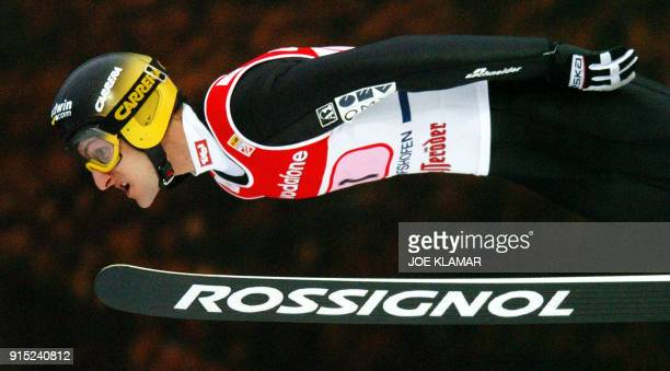 Martin Hoellwarth of Austria flies during the final round of the Four Hills competition as part of the FIS World Cup in SkiJumping in Bishchofshofen...