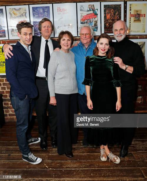 """Martin Hutson, Sir David Hare, Dame Penelope Wilton, Richard Eyre, Ophelia Lovibond and David Rintoul attend the press night after party for """"The Bay..."""